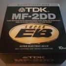 "TDK 10-Pack 3.5"" DSDD Floppy Disks, IN BOX, Used MF-2DD"