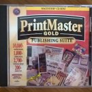 PrintMaster Gold V4.0 For Apple Mac 68K And PPC, IN Jewel Case, Macintosh