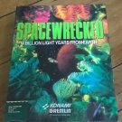 SpaceWrecked For Commodore Amiga, NEW FACTORY SEALED, Gremlin Konami