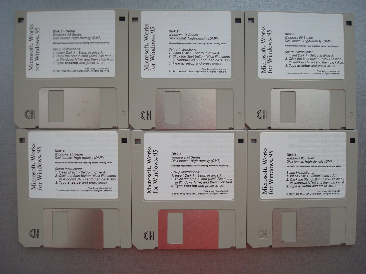 Microsoft Works For Windows 95, 3.5� Disks