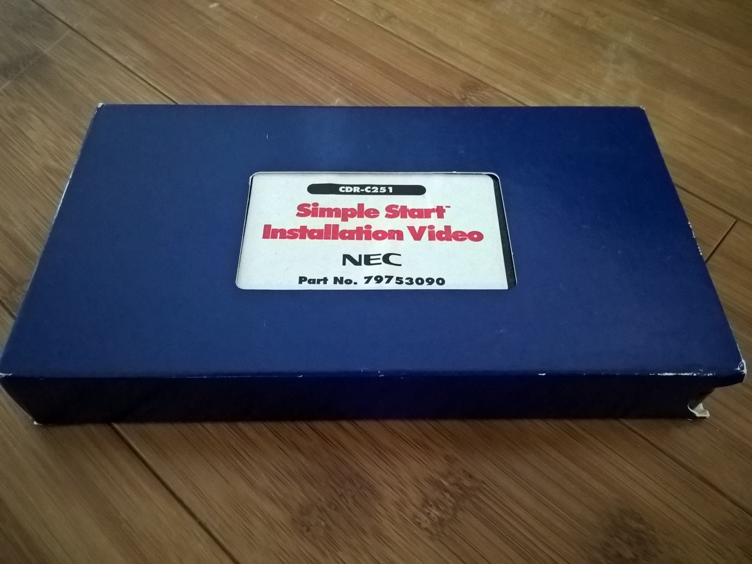 NEC 4x4 MultiSpin CD Changer Installation VHS, WORKING, Part No. 79753090