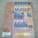 Murder! For Commodore Amiga, NEW FACTORY SEALED, US Gold