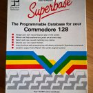 Superbase For Commodore 128, NEW OPEN BOX, Native C128 80-column