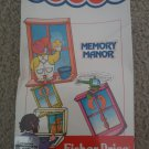 Memory Manor (Cartridge) For Commodore 64 128, NEW FACTORY SEALED, Fisher-Price
