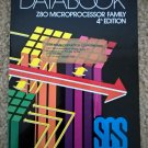 Z80 Microprocessor Family DataBook, 1984 Book, SGS Semiconductor