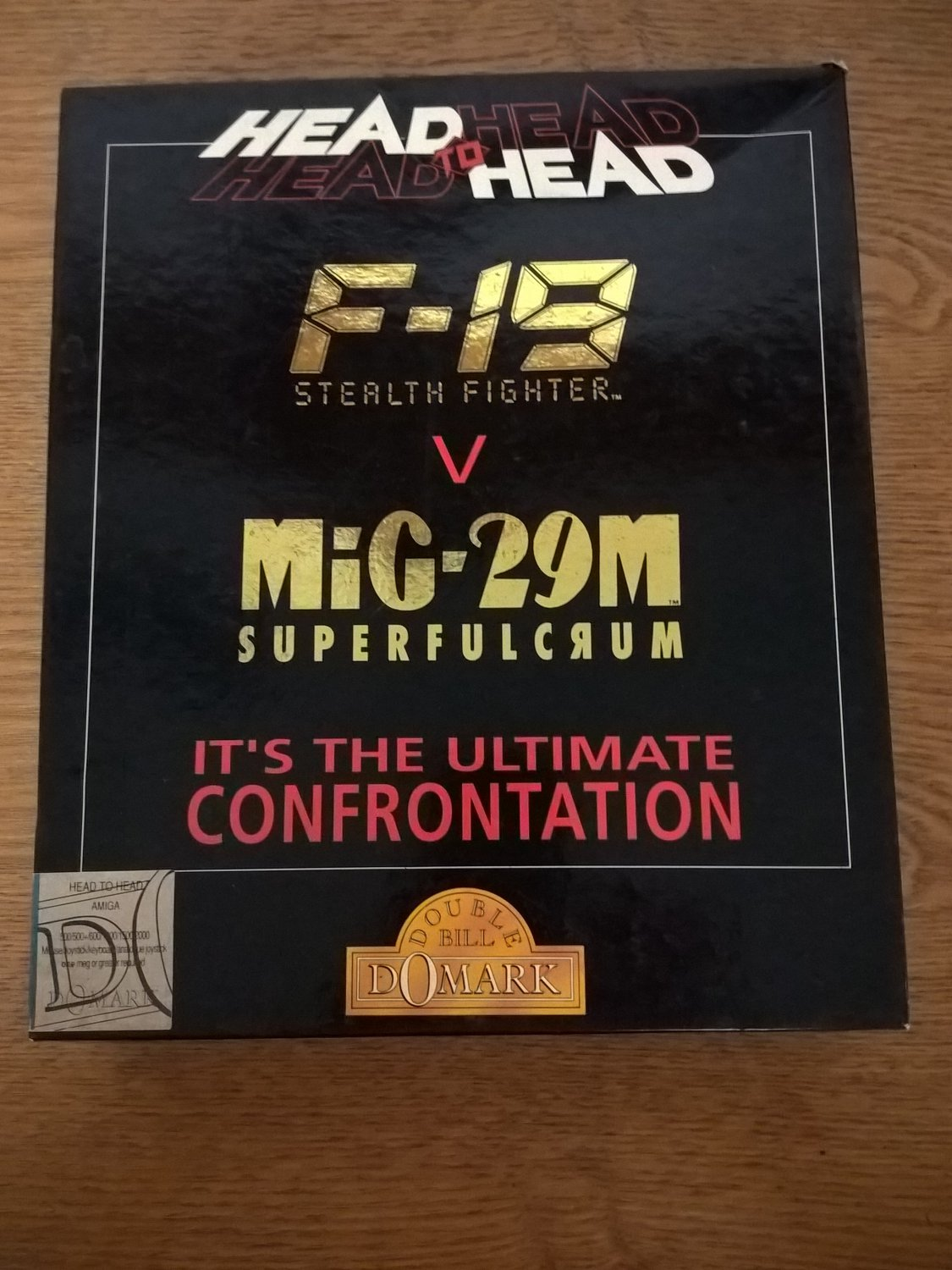Head To Head: F-19 V MiG-29M For Commodore Amiga, NEW OPEN BOX, Domark