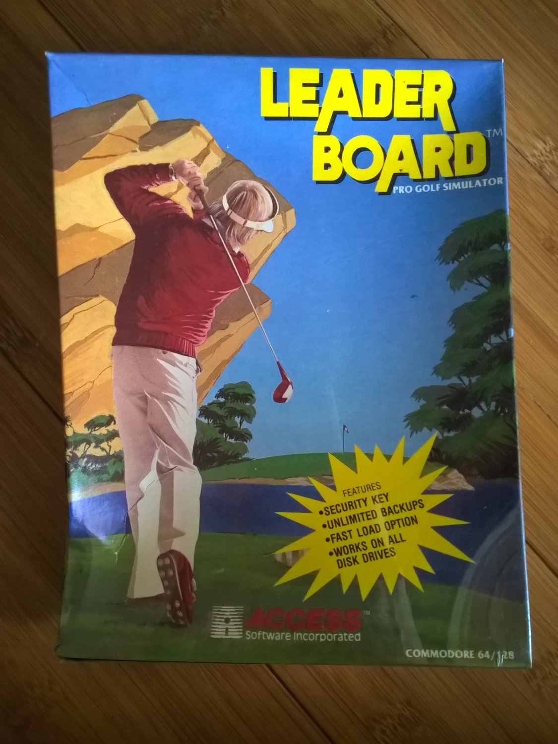Leader Board For Commodore 64/128, NEW FACTORY SEALED, Access B-Stock