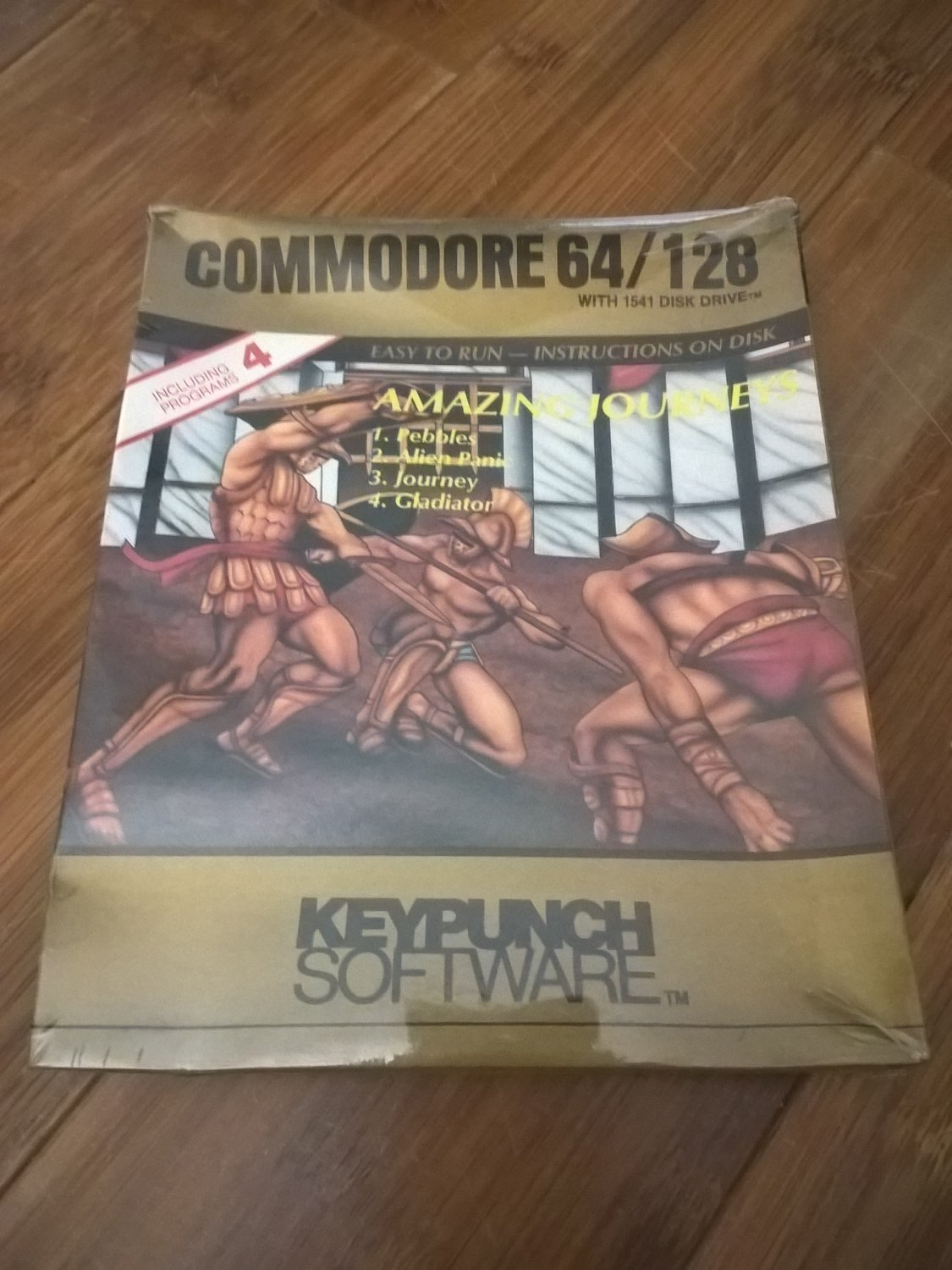 Amazing Journeys For Commodore 64/128, NEW FACTORY SEALED, Keypunch