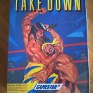 Take Down For Commodore 64/128, NEW FACTORY SEALED, Gamestar