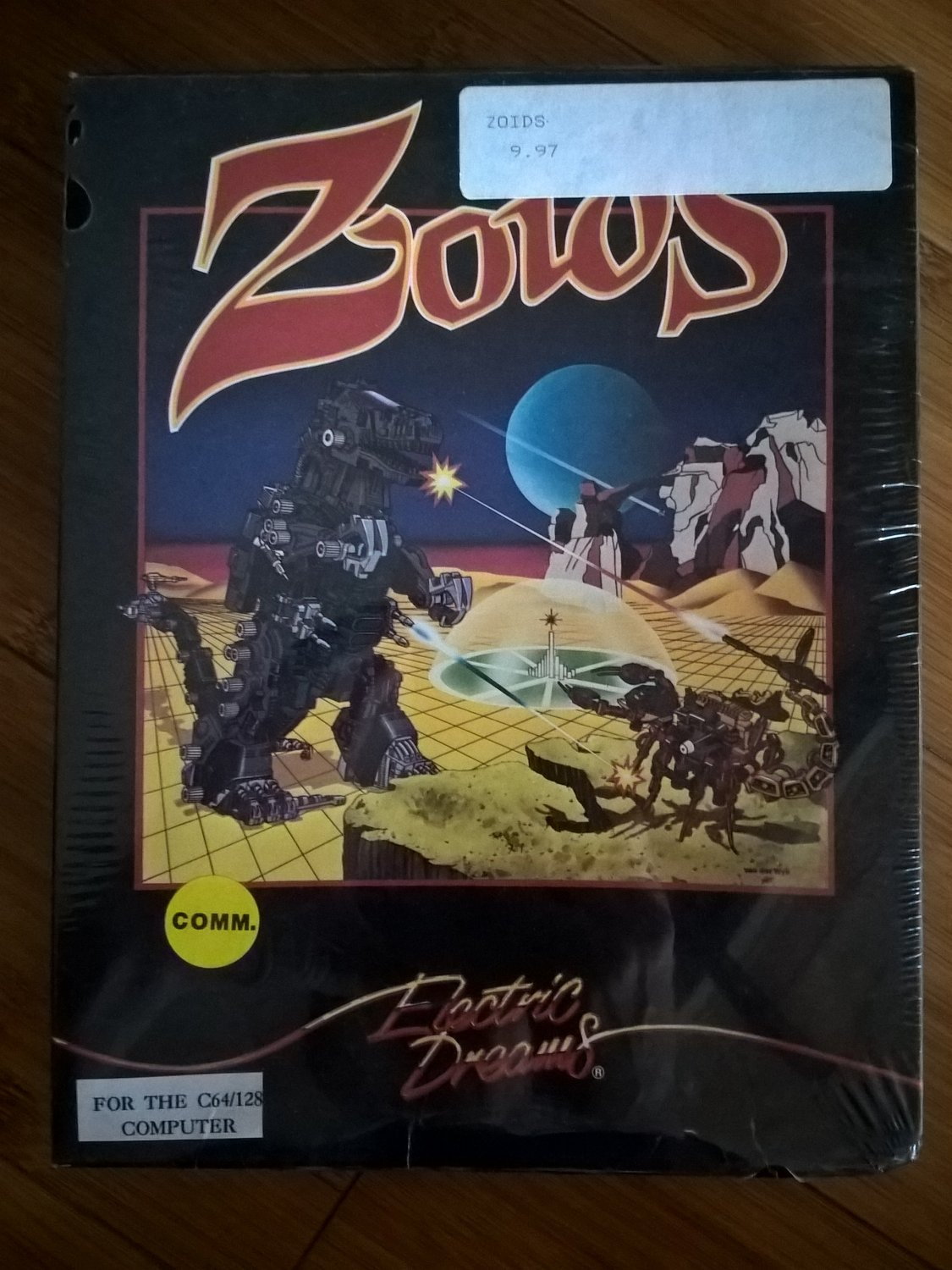 Zoids For Commodore 64/128, NEW FACTORY SEALED, Electric Dreams
