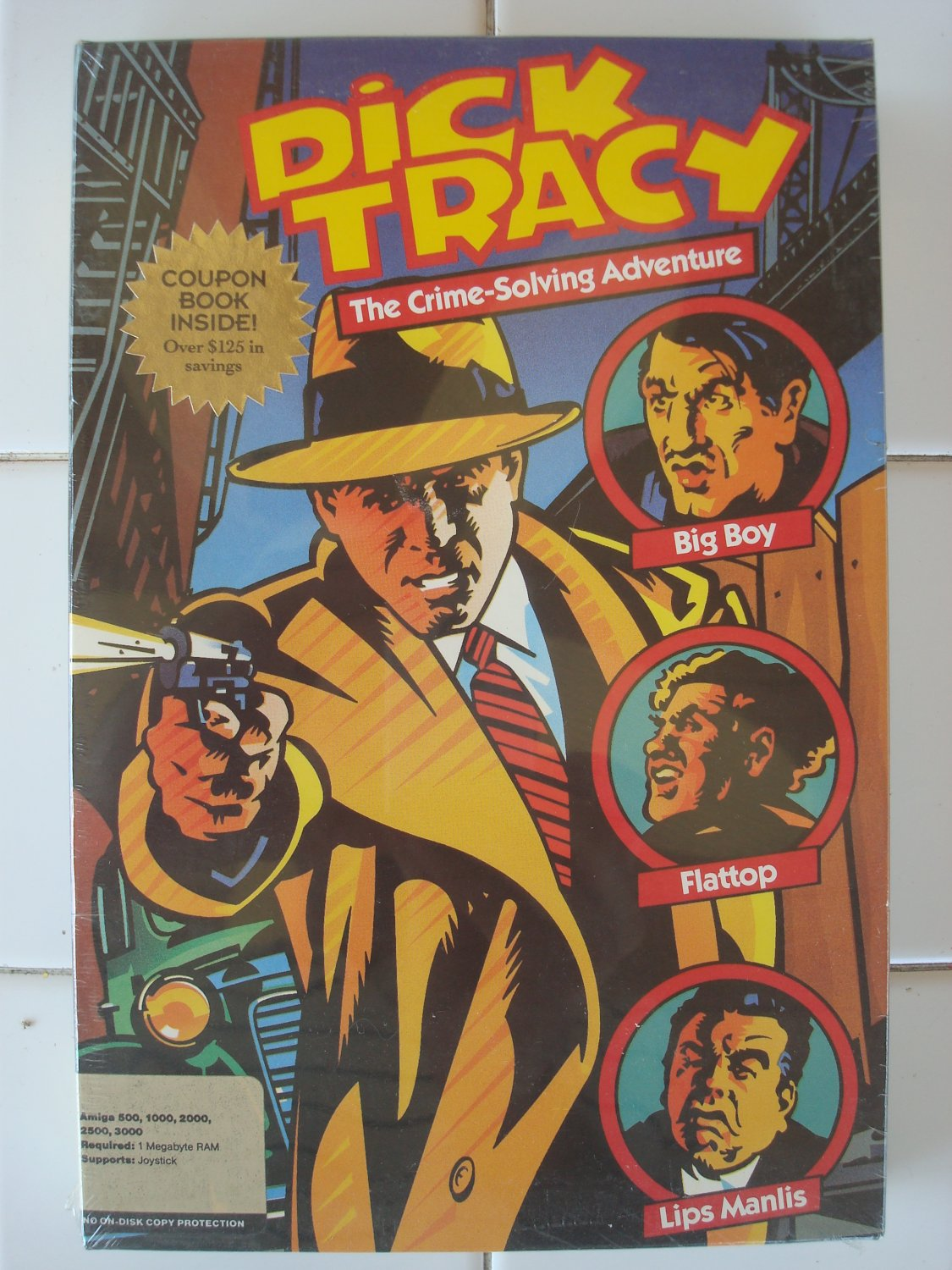 Dick Tracy For Commodore Amiga, NEW FACTORY SEALED, Disney