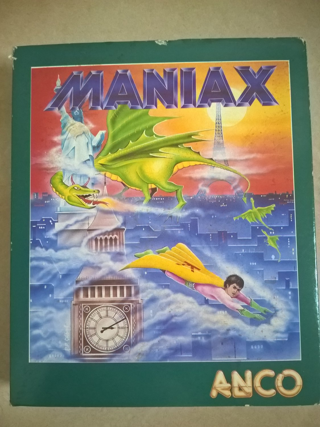 Maniax For Commodore Amiga, NEW OPEN BOX, Anco