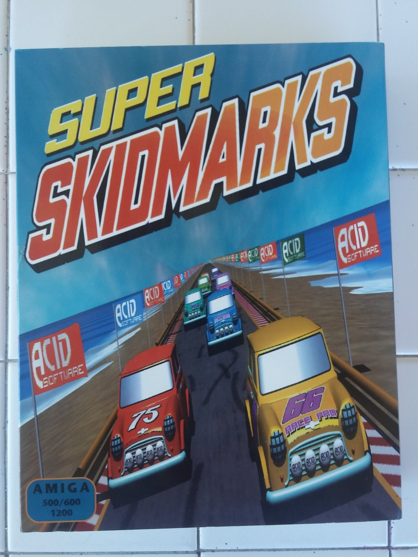 Super Skidmarks For Commodore Amiga, NEW OPEN BOX, Acid Software B-Stock