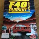 F40 Pursuit Simulator (Small Box) For Commodore 64 128, NEW OPEN BOX, Titus