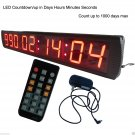 """Giant Large LED Countdown/up Clock 4"""" High Character Countdown Timer with Days"""