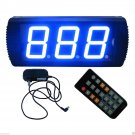 "4"" High Character LED Counter with 3 Buttons Blue Color LED Manual Counter"