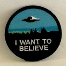 The X-Files I Want To Believe Iron On Embroidered Patch UFO Poster Image Applique Pin Badge