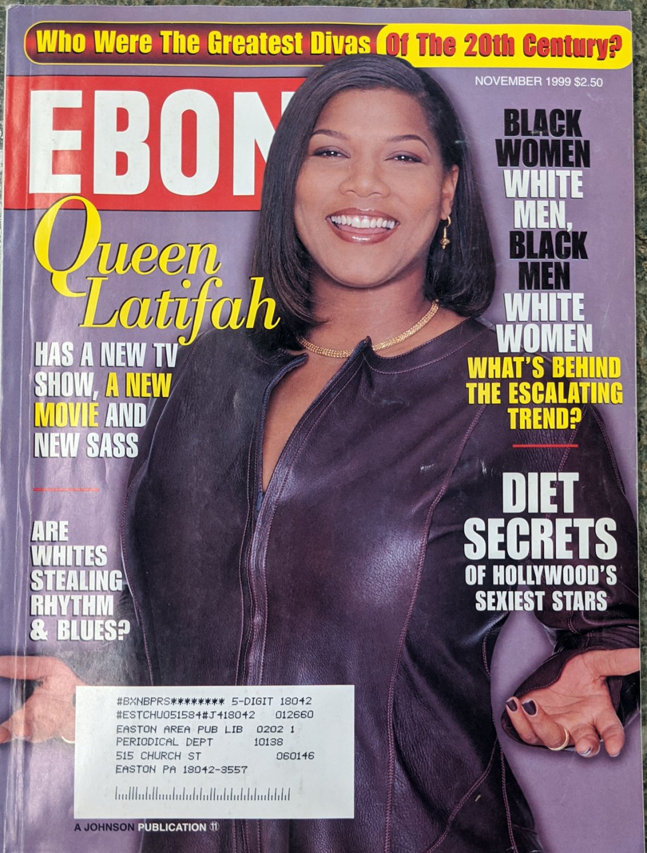 EBONY MAGAZINE NOVEMBER 1999 - QUEEN LATIFAH COVER