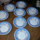 Lot of 9 fwc Ceramica Quadrifoglio Made in Italy 8 1/2 in Soup / Salad Bowls