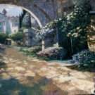Howard Behrens Villa Cipriani Archway Woven Tapestry Art Wall Hanging 52 x 34