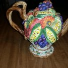 Retired Fitz & Floyd Classics Autumn Bounty Teapot Coffee Pot with NO lid