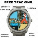 The Adventures Of TinTin Cartoon Unisex Sport Metal Watch