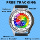 The Circle Of Fifths Unisex Round Metal Watch-Leather Band