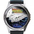 Back To The Future Deloren Car Unisex Round Metal Watch-Leather Band
