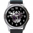 Saints Row Logo Unisex Round Metal Watch-Leather Band