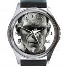 Frankenstein's Monster Unisex Round Metal Watch-Leather Band