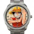 Monkey D. Luffy One Piece Manga Unisex Sport Metal Watch