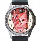 Nice David Bowie Unisex Round Metal Watch-Leather Band