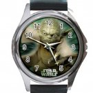 Star Wars Yoda Unisex Round Metal Watch-Leather Band