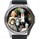 The Munsters American Sitcom Unisex Round Metal Watch-Leather Band