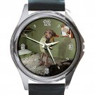Harry Potter Dobby Unisex Round Metal Watch-Leather Band