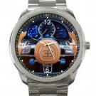 Bugatti Automobile Car Steering Wheel Unisex Sport Metal Watch
