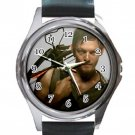 Daryl Dixon Unisex Round Metal Watch-Leather Band