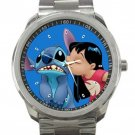 Lilo Kissing Stitch Disney Unisex Sport Metal Watch