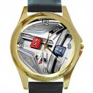 TaylorMade M1 Special Edition Driver Unisex Round Gold Metal Watch-Leather Band