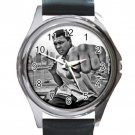 Muhammad Ali Famous Late Boxer Unisex Round Metal Watch-Leather Band