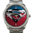 Superman Silver Logo Unisex Sport Metal Watch
