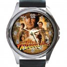 Indiana Jones and the Kingdom of the Crystal Skull Unisex Round Metal Watch-Leather Band