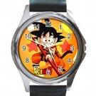 Kid Son Goku Dragonball Unisex Round Metal Watch-Leather Band