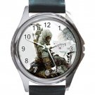 Assassin's Creed Unisex Round Silver Metal Watch-Leather Band