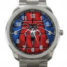 Nice Colorful Spider-man Unisex Sport Metal Watch