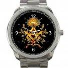Nice Freemason Logo Unisex Sport Metal Watch