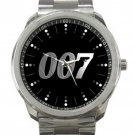 James Bond 007 Silver Logo Unisex Sport Metal Watch