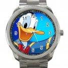 Donald Duck Cartoon Unisex Sport Metal Watch