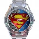 Nice Superman Logo Stainless Steel Analogue Watch