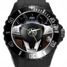 Mercedes Benze S Coupe Steering Wheel Unisex Round Plastic Sport Watch